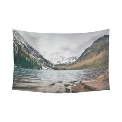 InterestPrint Landscape of Colorado at Maroon Bells. Beautiful Cotton Linen Wall Tapestry
