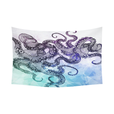 InterestPrint  Hipster Home Decor Wall Art, Abstract Octopus Cotton Linen Tapestry Wall Hanging Art Sets