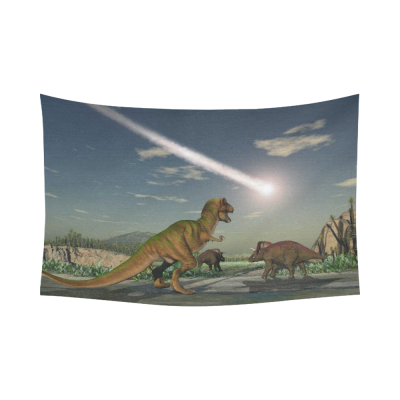 InterestPrint Dinosaur Home Decor Wall Art, Sunlight Sky Dinosaur Cotton Linen Tapestry Wall Hanging Art Sets