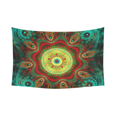 InterestPrint Hippie Mandala Bohemian Floral Indian Fantasy Peacock Cotton Linen Tapestry Wall Hanging Art Sets Home Decor Wall Art