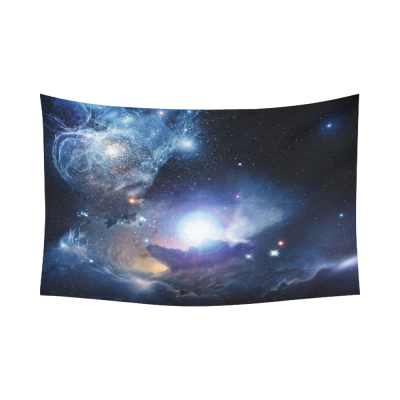 InterestPrint Galaxy Space Home Decor Wall Art, Nebula Universe Space Cotton Linen Tapestry Wall Hanging Art Sets