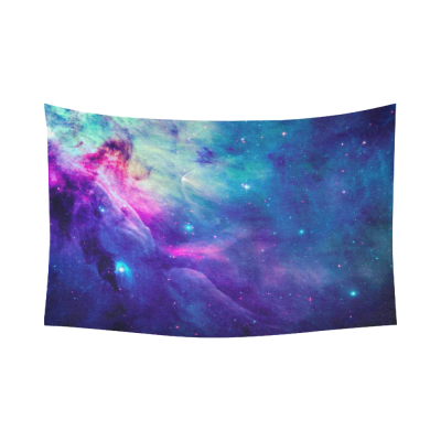 InterestPrint Universe Space Home Decor Wall Art, Galaxy  Nebula Cloud Outer Space Cotton Linen Tapestry Wall Hanging Art Sets