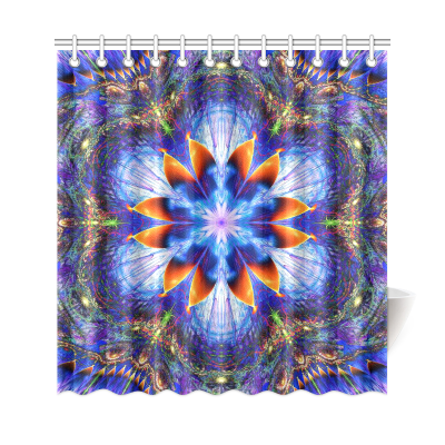 InterestPrint Hippie Indian Flower Mandala Home Decor,Bohemian Tribal Polyester Fabric Shower Curtain Bathroom Sets