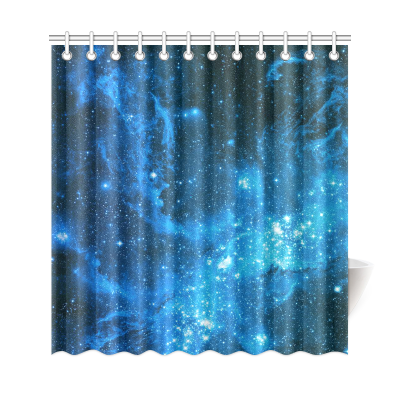 InterestPrint Galaxy Stars Nebula Home Decor,Outer Universe Space Polyester Fabric Shower Curtain Bathroom Sets