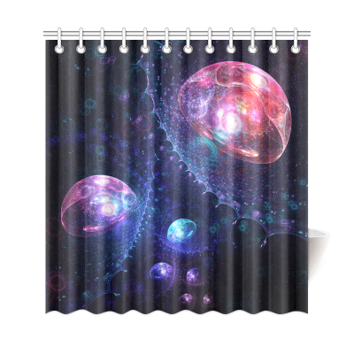 InterestPrint Universe Galaxy Space Home Decor, Underwater Jellyfish Polyester Fabric Shower Curtain Bathroom Sets with Hooks