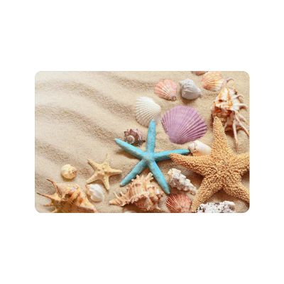 InterestPrint Summer Sand Beach Anti-slip Door Mat Home Decor, Seashell Starfish Indoor Outdoor Entrance Doormat Rubber Backing