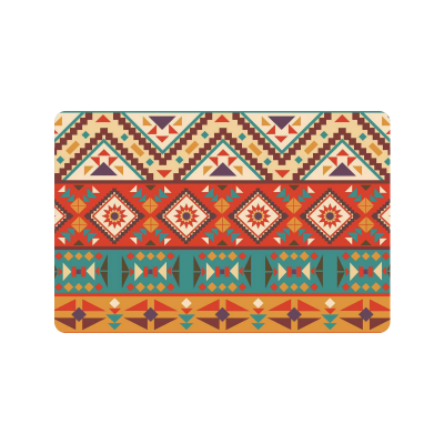 InterestPrint Colorful Navajo Anti-slip Door Mat Home Decor, Ethnic Geometry Indoor Outdoor Entrance Doormat Rubber Backing