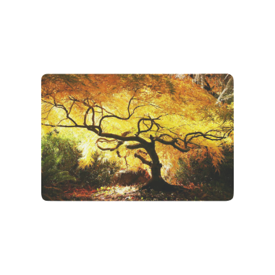 InterestPrint Tree Anti-slip Door Mat Home Decor, Japan Japanese Maple Indoor Outdoor Entrance Doormat Rubber Backing