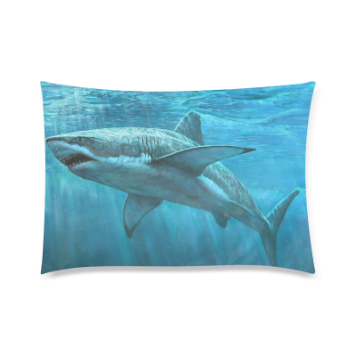 InterestPrint Custom Shark Wannabe Zippered Pillow Cases 20x30 twin sides