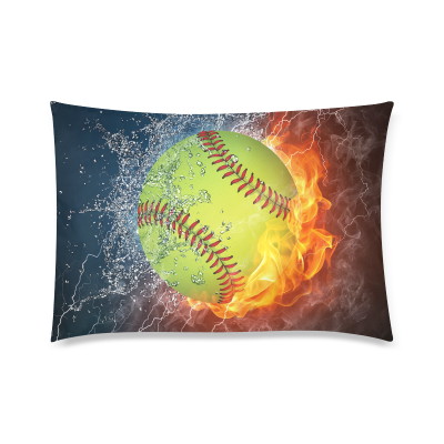 InterestPrint Bright Fire and Ice Softball Pillowcase for Couch Bed 20 x 30 Inches - Colorful Fashion Comfortable Pillow Cover Case Shams Decorative