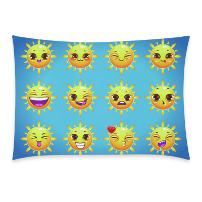 InterestPrint Cartoon Poop Emoji Smiley Face Emoticon Pillowcase Standard Size 20 x 30 Inches One Side - Emoji Emotions Summer Icons Sun Sticker Face Cotton Pillow Case Cover Set Pet Shams Decorative