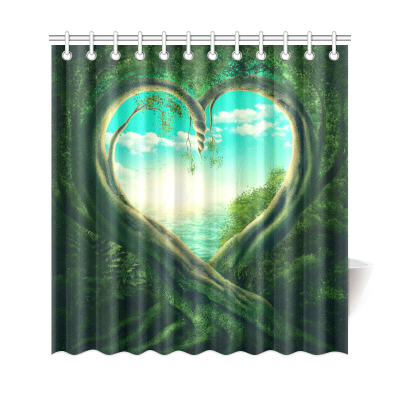 InterestPrint Spring Green Tree Home Decor, Landscape Polyester Fabric Shower Curtain Bathroom Sets
