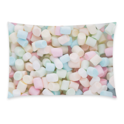 InterestPrint Sweet Candy Home Decor, Colorful Jelly Beans Pillowcase 20 x 30 Inches - Pink Blue Yellow Marshmallow Soft Pillow Cover Case Shams Decorative