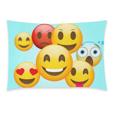 InterestPrint Cartoon Poop Emoji Smiley Face Emoticon Pillowcase Standard Size 20 x 30 Inches One Side - Emoji Emotions Green Pillow Cover Case Shams Decorative