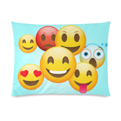 InterestPrint Cartoon Poop Emoji Smiley Face Emoticon Pillowcase Standard Size 20 x 26 Inches One Side - Emoji Emotions Pillow Cover Case Shams Decorative