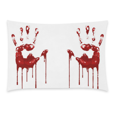 InterestPrint Home Decor Unique Handprints in Blood , Vintage Handprints for Help Pillowcase 20 x 30 Inches One Side - White Soft Pillow Cover Case Shams Decorative