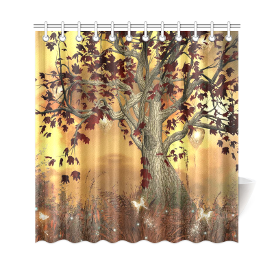 InterestPrint Tree Art Custom Shower Curtain Waterproof Polyester Fabric Bathroom Sets Home Decor