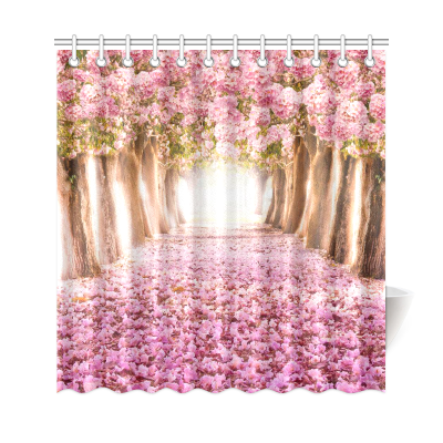 InterestPrint Romantic Tunnel Custom Shower Curtain Polyester Fabric Bathroom Sets Home Decor