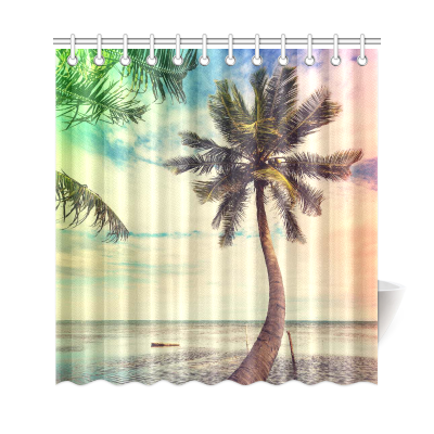 InterestPrint Serenity Beach Custom Shower Curtain Polyester Fabric Bathroom Sets Home Decor