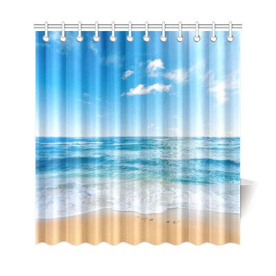 InterestPrint Sea & Beach Custom Shower Curtain Polyester Fabric Bathroom Sets Home Decor