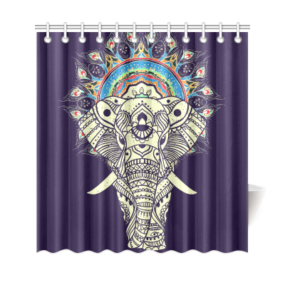InterestPrint Tribal Aztec Elephant Custom Shower Curtain Polyester Fabric Bathroom Sets Home Decor