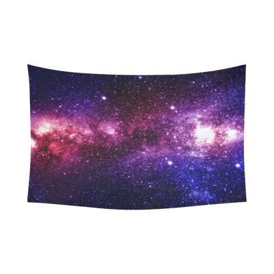 InterestPrint Cosmos Cosmic Background Wall Art Home Decor, Colorful and Beautiful Universe Galaxy and  Stars in Deep Space Cotton Linen Tapestry Wall Hanging Art Sets