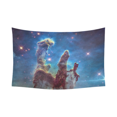 Interestprint Galaxy Carina Eagle Nebula Pillars of Creation Tapestry Horizontal Wall Hanging Outer Space Universe Wall Decor Art for Living Room Bedroom Dorm Cotton Linen Decoration