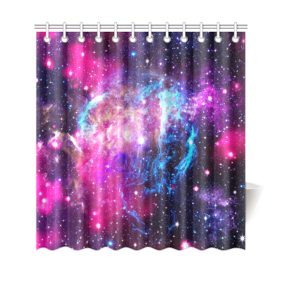InterestPrint Galaxy Space Custom Shower Curtain Polyester Fabric Bathroom Sets Home Decor