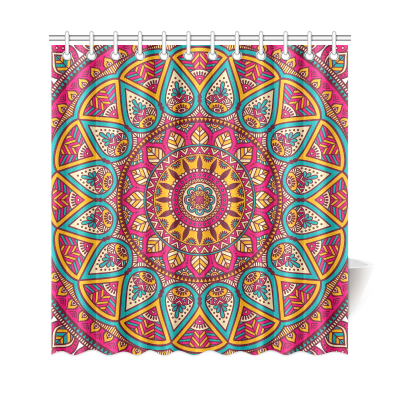 InterestPrint Ethinic  Mandala Polyester Fabric Shower Curtain Bathroom Sets Mandala Home Decor