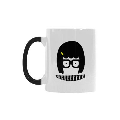 InterestPrint Kitchen & Dining Tina Belcher Morphing Mug Heat Sensitive Color Changing Mug Ceramic Coffee Mug Cup-White-11 oz-Tina Belcher Funny Uhhhhhhhh Face