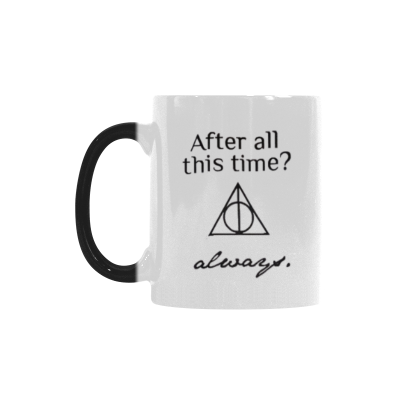 InterestPrint Kitchen & Dining Love You Forever Morphing Mug Heat Sensitive Color Changing Mug Ceramic Coffee Mug Cup-White-11 oz-After All This Time? Always.