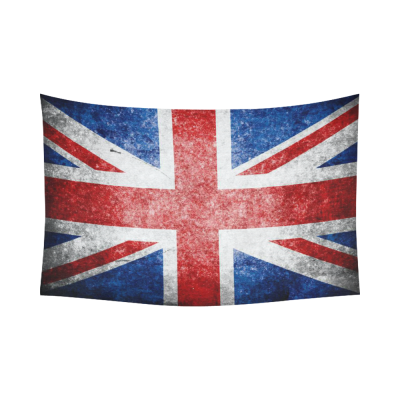 InterestPrint British Flag Wall Art Home Decor, Union Jack Flag Vintage Style Cotton Linen Tapestry Wall Hanging Art Sets