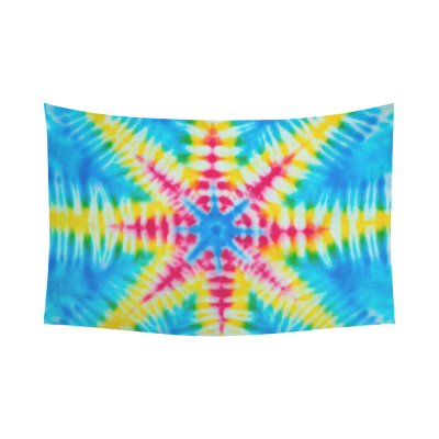 Interestprint Tie Dye Tapestry Wall Hanging 主题2 Wall Decor Art for Living Room Bedroom Dorm Cotton Linen Decoration