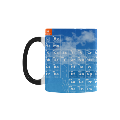 InterestPrint 11oz Periodic Table of Elements Morphing Mug Heat Sensitive Color Changing Coffee Mug Cup with Quotes, Unique Funny Birthday Christmas Gifts for Men Women Him Her Mom Dad