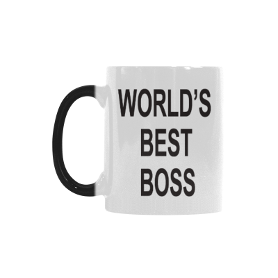 InterestPrint 11oz World's Best Boss Morphing Mug Heat Sensitive Color Changing Coffee Mug Cup with Quotes, Unique Funny Birthday Christmas Gifts for Men Women Him Her Mom Dad