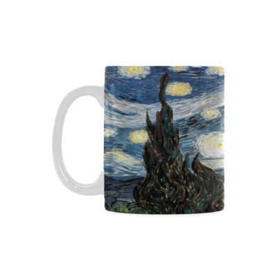Interestprint kitchen dining vintage world map ceramic coffee mug interestprint 11 ounce white ceramic vincent van gogh starry night funny travel coffee mug cup with gumiabroncs Image collections