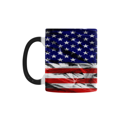 InterestPrint 11oz Patriotic USA American Flag Morphing Mug Travel Heat Sensitive Color Changing Coffee Mug Cup with Quotes, Unique Funny Birthday Christmas Gifts for Men Women Him Her Mom Dad