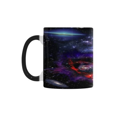 InterestPrint 11oz Colorful Nebula Galaxy Outer Space Morphing Mug Travel Heat Sensitive Color Changing Coffee Mug Cup with Quotes, Unique Funny Birthday Christmas Gifts for Men Women Him Her Mom Dad