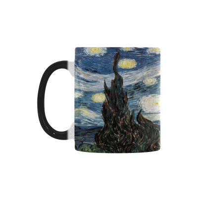 InterestPrint 11oz Vincent Van Gogh Starry Night Morphing Mug Heat Sensitive Color Changing Coffee Mug Cup with Quotes, Unique Funny Birthday Christmas Gifts for Men Women Him Her Mom Dad