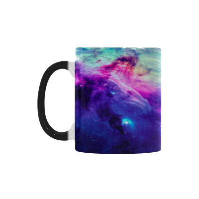 InterestPrint Galaxy Outer Space Nebula Universe Morphing Mug Heat Sensitive Color Changing Coffee Mug Cup with Quotes, Unique Funny Birthday Christmas Gifts for Men Women Him Her Mom Dad