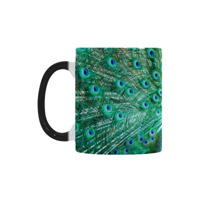 InterestPrint Peacock Animal Birds Morphing Mug Heat Sensitive Color Changing Coffee Mug Cup with Quotes, Unique Funny Birthday Christmas Gifts for Men Women Him Her Mom Dad