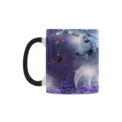 InterestPrint Unicorn Horse Animal Little Fairies Morphing Mug Heat Sensitive Color Changing Coffee Mug Cup with Quotes, Unique Funny Birthday Christmas Gifts for Men Women Him Her Mom Dad
