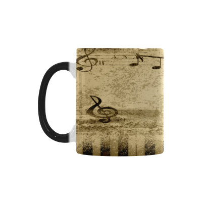 InterestPrint 11oz Vintage Guitar Music notes Morphing Mug Heat Sensitive Color Changing Coffee Mug Cup with Quotes, Unique Funny Birthday Christmas Gifts for Men Women Him Her Mom Dad