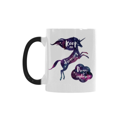 InterestPrint Watercolor Unicorn Horse Animal Morphing Mug Heat Sensitive Color Changing Coffee Mug Cup with Quotes, Unique Funny Birthday Christmas Gifts for Men Women Him Her Mom Dad