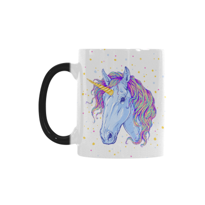 InterestPrint Colorful Magic Unicorn Horse Animal Morphing Mug Heat Sensitive Color Changing Coffee Mug Cup with Quotes, Unique Funny Birthday Christmas Gifts for Men Women Him Her Mom Dad