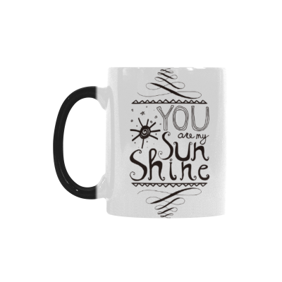 InterestPrint 11oz Inspirational Words You are My Sunshine Morphing Mug Travel Heat Sensitive Color Changing Coffee Mug Cup with Quotes, Unique Funny Birthday Gifts for Men Women Him Her Mom Dad