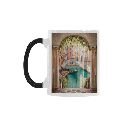 InterestPrint 11oz Landscape of Venice Street Morphing Mug Travel Heat Sensitive Color Changing Coffee Mug Tea Cup with Quotes, Unique Funny Birthday Christmas Gifts for Men Women Him Her Mom Dad