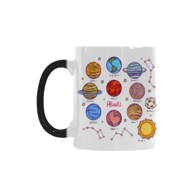 InterestPrint 11oz Solar System and Constellation Morphing Mug Travel Heat Sensitive Color Changing Coffee Mug Cup with Quotes, Unique Funny Birthday Christmas Gifts for Men Women Him Her Mom Dad