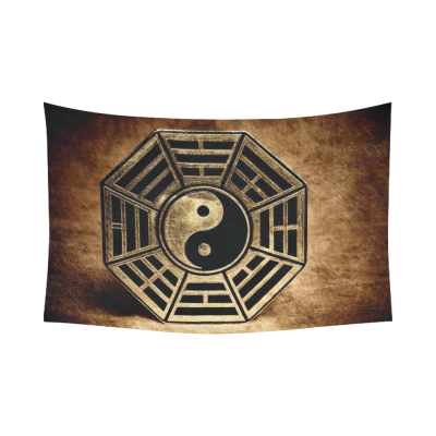 InterestPrint Zen Wall Art Home Decor, Old Vinatge Yin Yang Symbol Peace Cotton Linen Tapestry Wall Hanging Art Sets