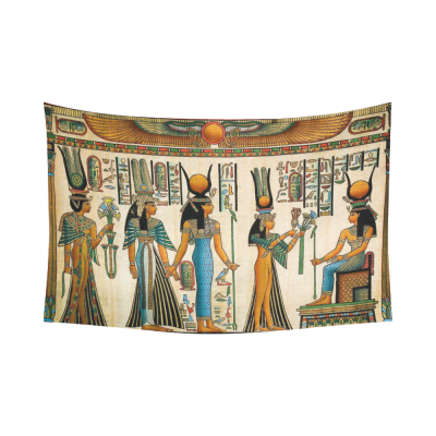 InterestPrint African Design Wall Art Home Decor, Egyptian Queen Ancient Cotton Linen Tapestry Wall Hanging Art Sets